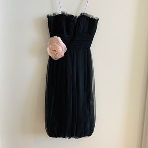Vera Wang black tulle bridesmaid dress